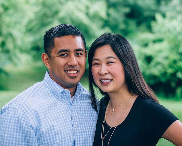 Monica Ma, OD, and her husband Jonathan Reynon, OD