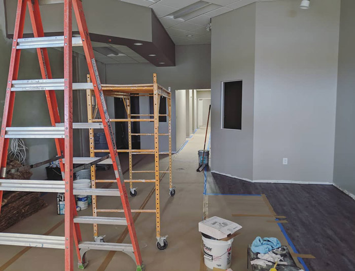 Construction underway at InView Eye Care in Durham